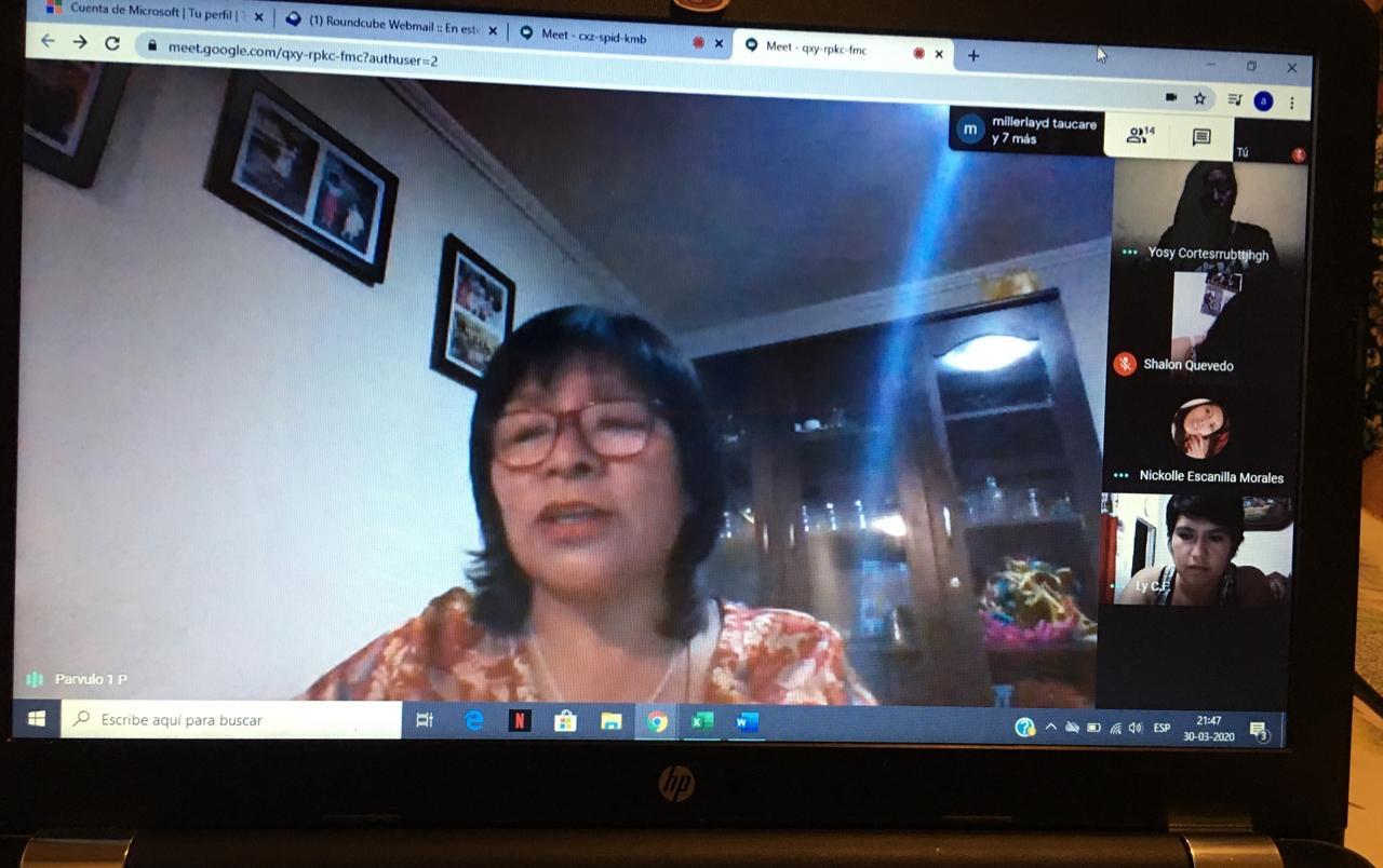Gran asistencia de clases online en CFT de Calama