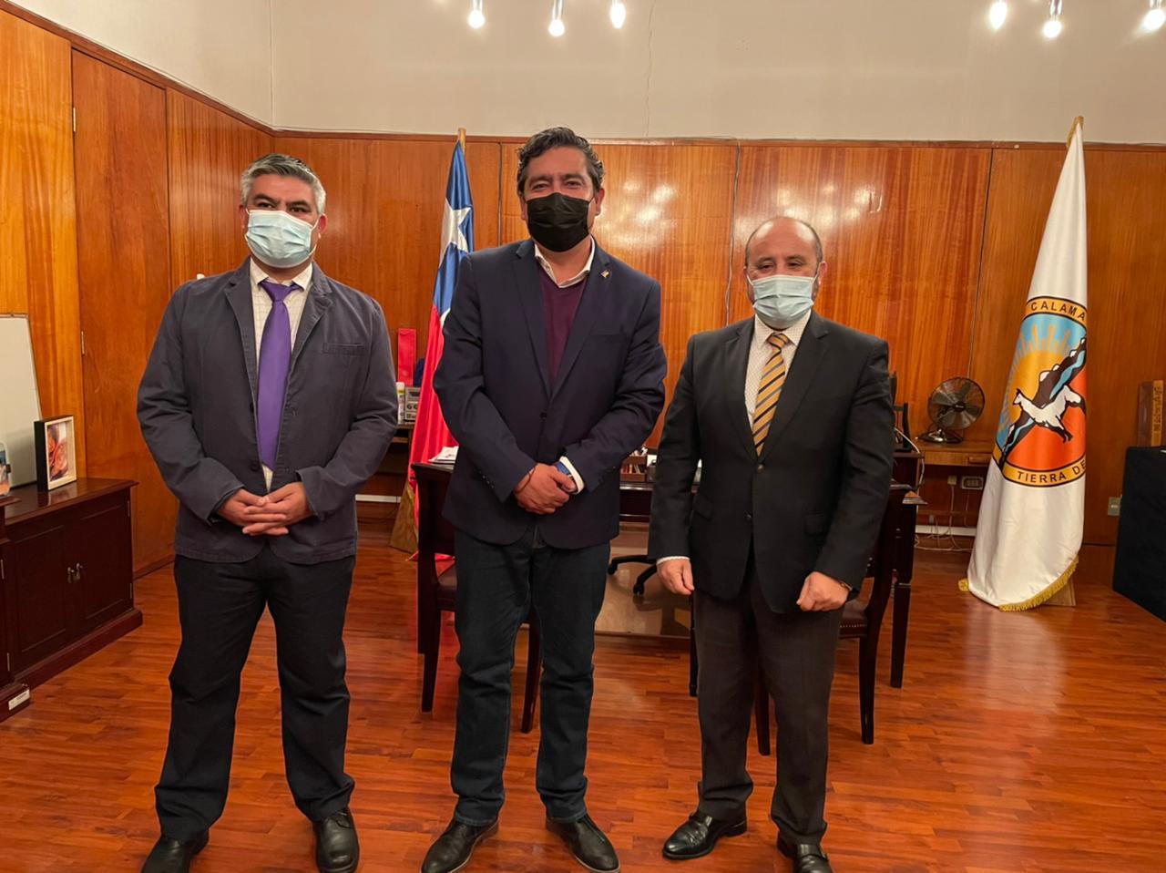 Autoridades del CFT realizan saludo protocolar a nuevo alcalde de Calama